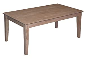 Shaker Style Coffee Table Solid Wood Unfinished