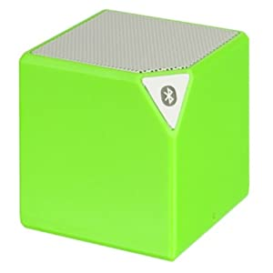 DreamWireless Dream Wireless Portable Mini Square Bluetooth Speaker with 3.5MM Audio Jack for Cellphones - Retail Packaging - Green