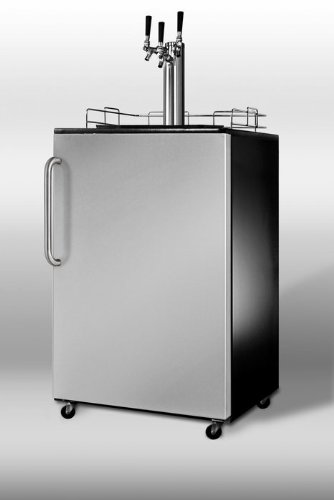 Summit Sbc490Sstbtriple 24 Stainless Steel Beer Dispenser