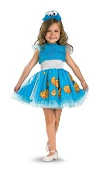 Frilly Cookie Monster Costume - Toddler Medium