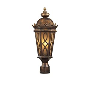 Click to read our review of Outdoor Post Lighting: ELK Lighting Burlington Junction Two Light Amber Post Light