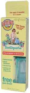 Toothpaste, Strawberry and Banana, 1.6 oz (45 g) by Earth's Best