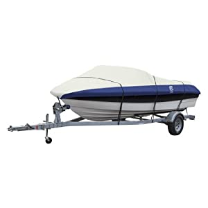 Classic Accessories Lunex RS-2 Heavy Duty Boat Cover, Navy Linen by Classic Accessories