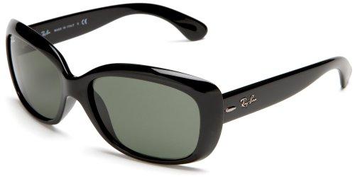 Ray-Ban Women's 4101 Jackie Ohh Sunglasses,Black Frame/G-15 XLT Lens,58 mm