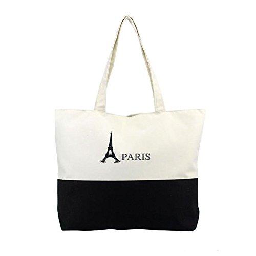 Longra Donne Canvas Handbag Shopping Bag a tracolla (C)