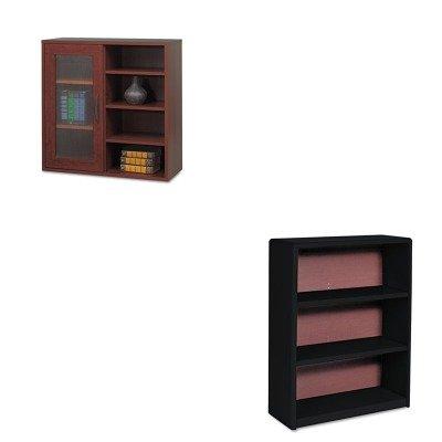 KITSAF7171BLSAF9444MH - Value Kit - Safco Aprs Single-Door Cabinet w/Shelves (SAF9444MH) and Safco Value Mate Series Bookcase (SAF7171BL)