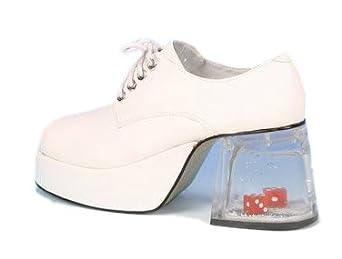 s white dice platform shoes sz medium 10