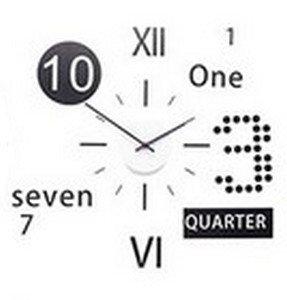 horloge pendule murale a coller design chiffre sticker autocollant seven cuisine. Black Bedroom Furniture Sets. Home Design Ideas