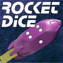 Rocket Dice d6 Pips - Purple