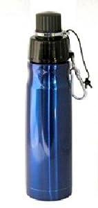 Double Wall vacuum Stainless steel water bottle, BPA Free- Metallic Blue