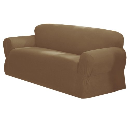 maytex mills 1 piece canvas slipcover for sofa beige
