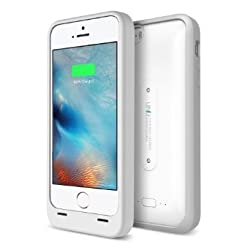 iPhone 5S Battery Case, UNU AERO Wireless iPhone 5S Case with Charging Pad [White/Grey] 1 YR Warranty -2000mAh Portable Charger, External Juice Power Bank and Charging Case[MFI Apple Certified]
