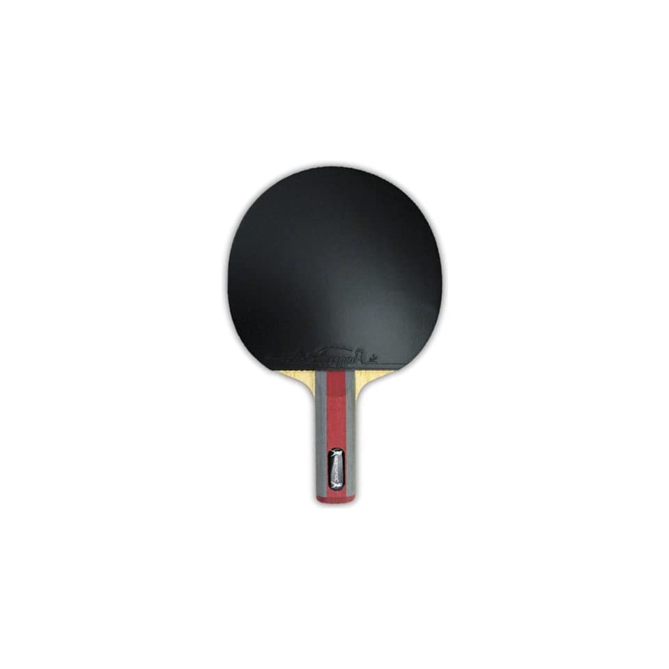 Diamond C Table Tennis Racket BLACK WITH GRAY/RED HANDLE 6X6.25 HEAD