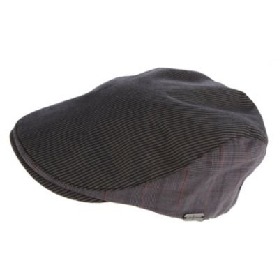 J by Jasper Conran-Dark grey panelled flat cap-M