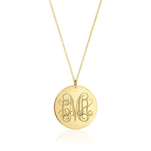 Desertcart oman pradman buy pradman products online in oman gold monogram necklace initial disc necklace wedding bridesmaid necklaces gold filled necklace 20 inches mozeypictures Images