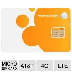 ATT 3G プリペイド Micro SIMカード for iPhone 4/4S SKU 72290