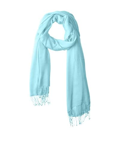 Portolano Women's Scarf with Twisted Fringe, Capri Blue