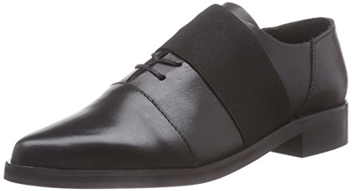 SELECTED FEMME Sfelin Leather Shoe F, Oxford stringata donna, Nero (Nero (nero)), 38