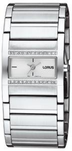 Lorus Stone Set White Dial Ladies Watch - RG277GX9