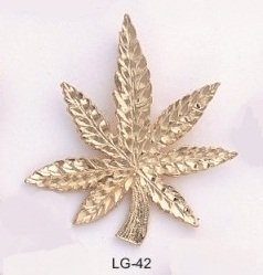 Fabulous Layered Gold Pot Leaf - Mary Jane -Marijuana Charm Pendant
