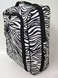 2 Wheeled Super Lightweight Hand Luggage Holdall Onboard Flight Cabin Bag Zebra Print