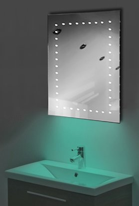 Ambient Ultra-Slim Led Bathroom Mirror With Demister Pad & Sensor K166T