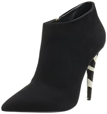 Giuseppe Zanotti Women's Decorative Heel Ankle Bootie,Cam Nero,5.5 B US