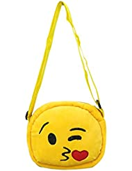 EMOTICON Yellow Colour Sling Bag By JDK NOVELTY (BGSL3951A)