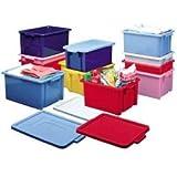 Pack of 3 - Strata Storemaster Jumbo Storage Crate 560L x 385W x 280D mm - (532281)