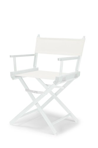 Telescope Casual Heritage Dining Height Director Chair, White With White Frame