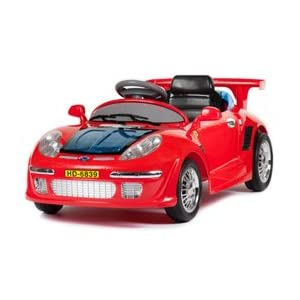 Ride on Porsche 911 Style Sports Car with Parental Remote Control in Red
