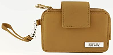Kenneth Cole New York Womens Leather Iphone/cell Phone Wristlet Wallet/clutch (Cognac)