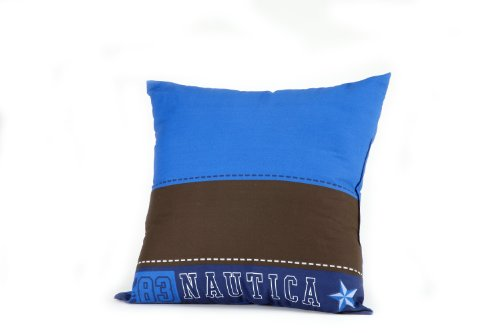Nautica Kids Drew Pillow, Brown/Blue front-1006276