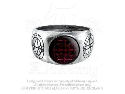 Alchemy Gothic Agla anello, Peltro, N, cod. R71N