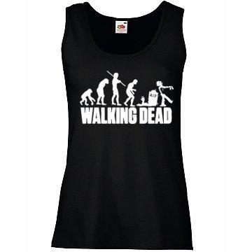 TRVPPY Donna Tank-Top Canotta Maglietta Shirt Modello The Walking Dead, diversi colori e taglia