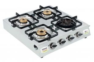 Sunshine Meethi Angeethi 4 Burner SS Gas Cooktop