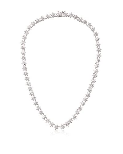 CZ by Kenneth Jay Lane Floral Rounds Necklace