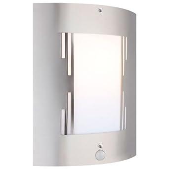 3er Set LED Wandleuchten Außenlampen Balkon IP44 Edelstahl Höhe 30,5 cm EEK A+