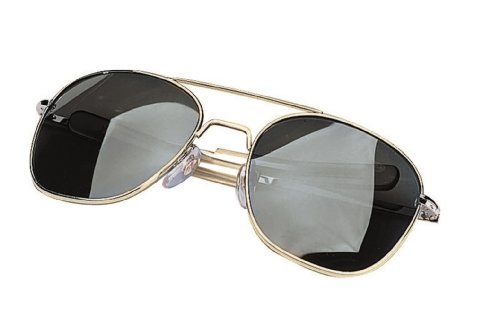 Aviator Sunglasses - Gi Pilot Type, Smoke/Gold, 58Mm By Rothco