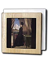 BLN Paintings of Kings, Queens and Royalty - Queen Caroline Murat, 1814 by Jean Auguste Dominique Ingres - Tile Napkin Holders - 6 inch tile... by 3dRose