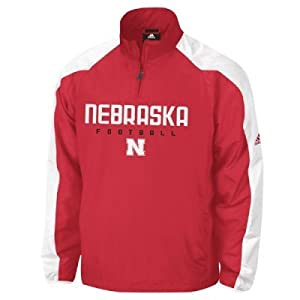 Adidas Nebraska Cornhuskers Coaches Pullover Jacket by adidas