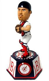 Boston Red Sox Jason Varitek Forever Collectibles Bobble Head Clock by Hall+of+Fame+Memorabilia