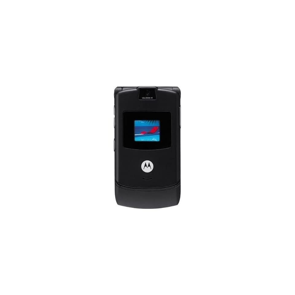 Motorola RAZR V3 Unlocked GSM Cell Phone Featuring Bluetooth Compatibility, VGA Camera, Quad Band GSM (850/900/1800/1900)and 30 Day Warranty (Black) Cell Phones & Accessories