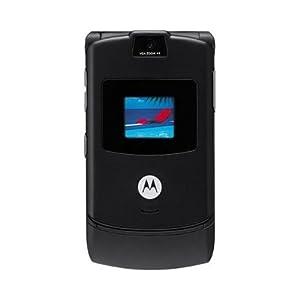 Motorola RAZR V3 Unlocked GSM Cell Phone Featuring Bluetooth Compatibility, VGA Camera, Quad-Band GSM (850/900/1800/1900)and 30 Day Warranty (Black)