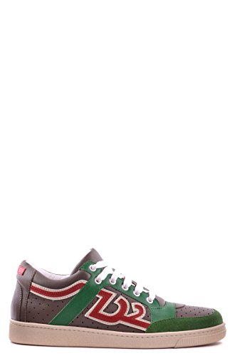 DSQUARED2 HERREN MCBI107091O MULTICOLOUR LEDER SNEAKERS thumbnail