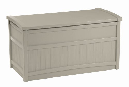 Suncast DB5000 50-Gallon Deck Box For Outdoor Toy Storage