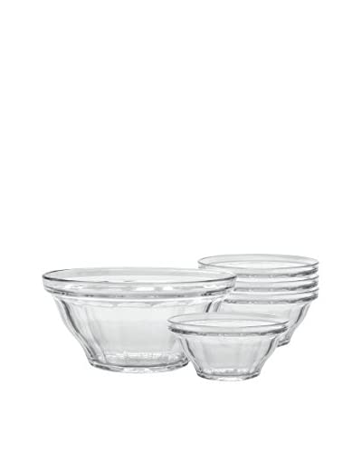 Duralex 5-Piece Picardie Bowl Set, Clear