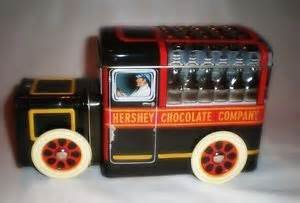 Hershey Chocolate Company Collectible Tin Truck -- Hershey's Vehicle Series Canister #1 Milk Truck