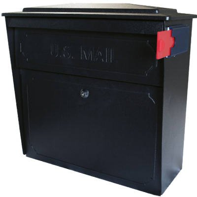 Epoch-Design-7172-Townhouse-Wall-Mailbox-With-Lock-Anti-Pry-System-Black-Galvanized-Steel