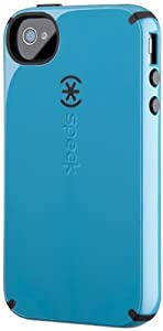 Speck Products CandyShell Glossy Case for iPhone 4/4S - 1 Pack - Carrying Case  - Peacock Blue/Black